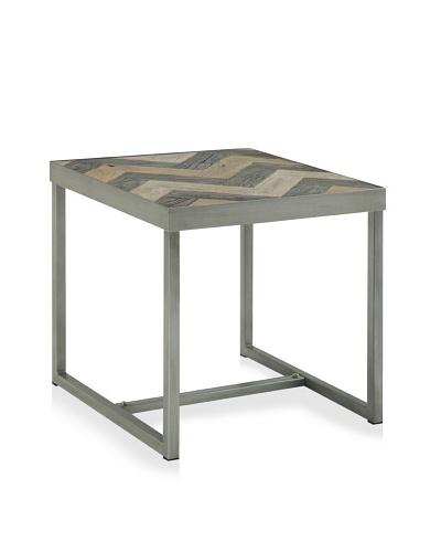 Miri Side Table, Antique Elm/Grey/Old Elm
