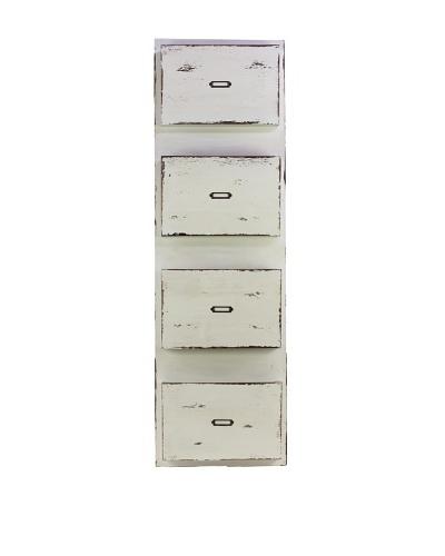 Wooden Recipe Organizer, White