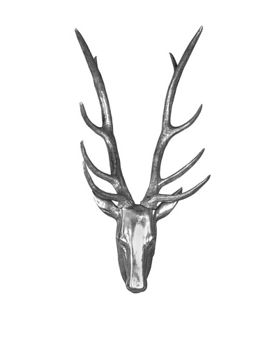 Resin Stag Head, Silver