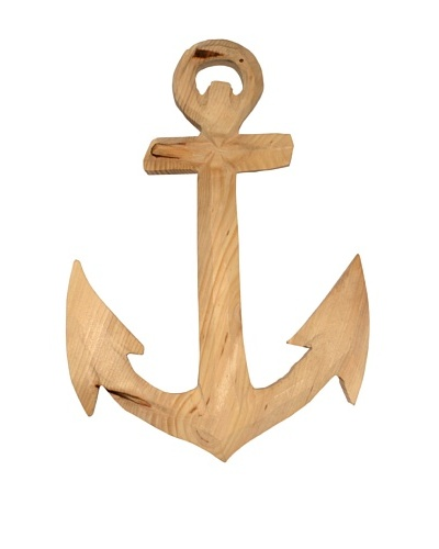 Carved Wood Anchor, Natural