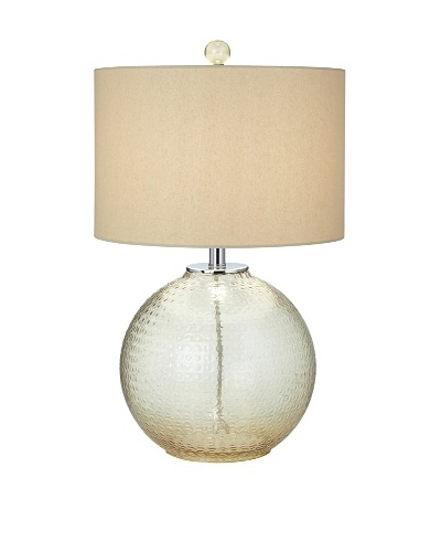 Bubble Pattern Glass Table Lamp