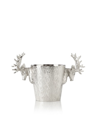 Raw Aluminum Reindeer Wine Cooler