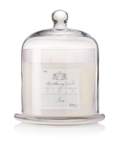 Apothecary Guild Candle Jar with Glass Dome, Iris, Large