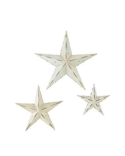 Set of 3 Multi Size Metal Wall Stars