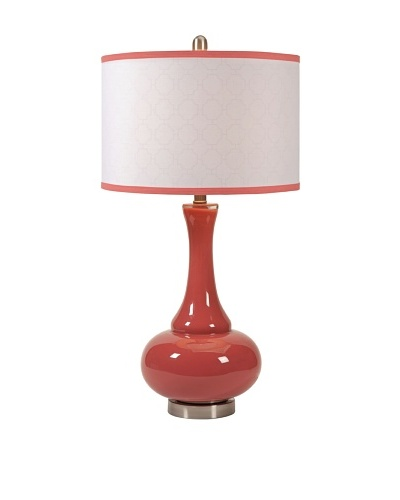 Essentials Glass Table Lamp, Melon Sorbet