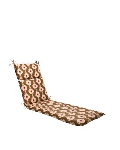 Waverly Sun-n-Shade Rise and Shine Henna Chaise Lounge Cushion [Red/Brown/Tan]