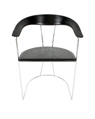Italian Modern Chair, Black/Silver