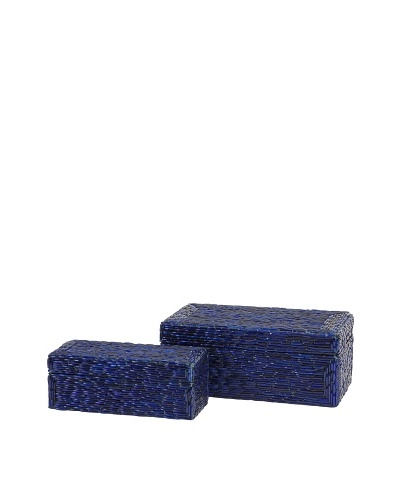 Set of 2 Indigo Bangle Boxes