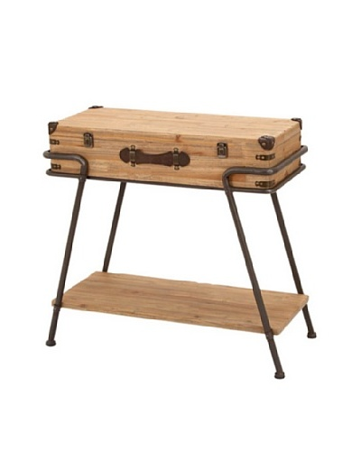 Wooden Suitcase Table