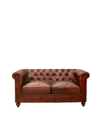 Chesterfield Loveseat, French Roast, Brown