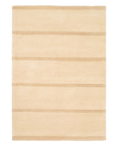 Hand Made Pierrot Rug, Ivory, 4' 7 x 6' 7