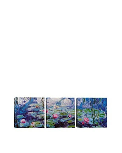 Claude Monet Nympheas (Panoramic) 3-Piece Canvas Print
