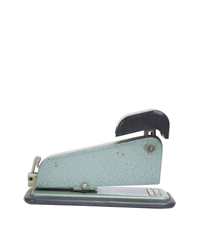 Vintage Stapler, Metallic Blue