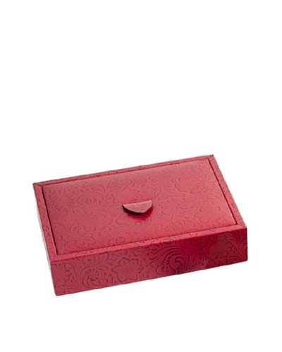 Leather Jewelry Valet, Red