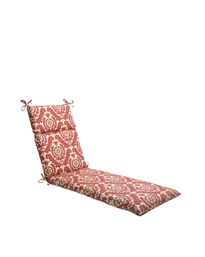 Waverly Sun-n-Shade Meridian Henna Chaise Lounge Cushion [Red/Brown/Tan]