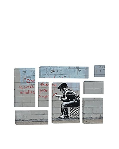 Banksy One Original Thought Worth A Thousand Quotings 8-Piece Giclée On Canvas