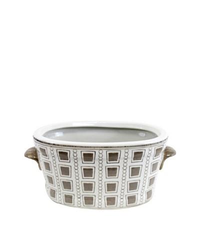 Rhonda Bowl, White/Brown