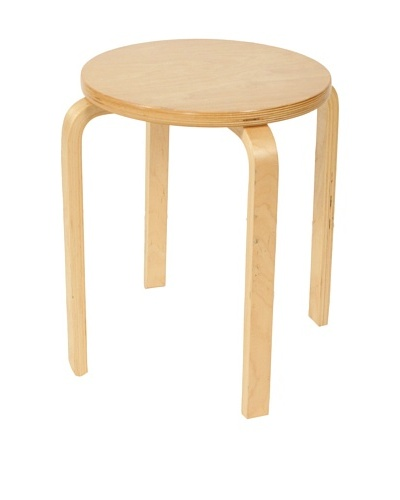 Mid-Century Modern Swedish Stool, Tan