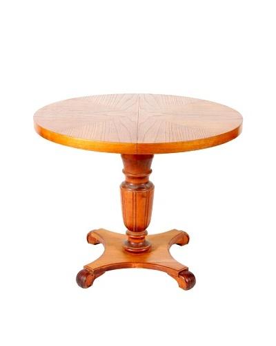 Mid-Century Modern Round Table, Tan