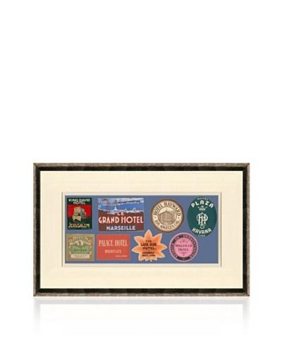 Vintage Luggage Labels - Jerusalem, Cuba, Switzerland, USA, British Isles, France, Japan, Belgium
