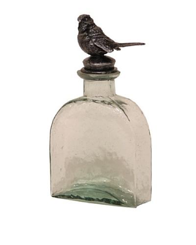 Green Sparrow Bird Bottle