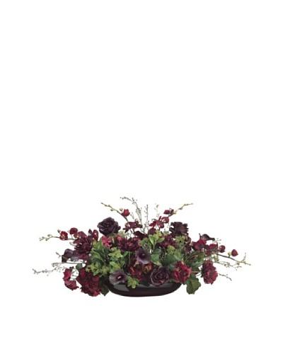 Potted Hydrangea, Calla Lily & Phalaenopsis, Burgundy/Eggplant