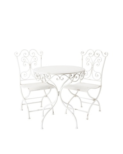 3-Piece Bistro Set, Aged White