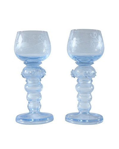 Pair of Roemer Style Goblets, Blue