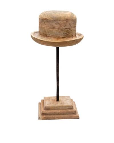 Alfie, Wood Hat Mold, Tan