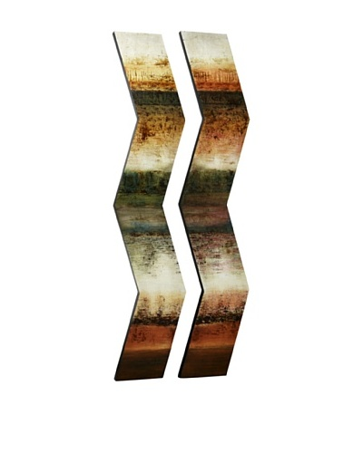 Set of 2 Hand-Painted Dimensional Art Sticks