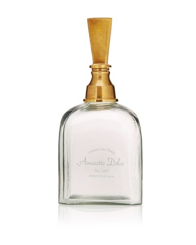 Amaretto Dolce Decanter with Brass Stopper