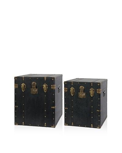 Set Of 2 Trunks [Black]