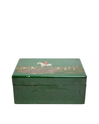 Vintage Hand-Painted and -Engraved Humidor