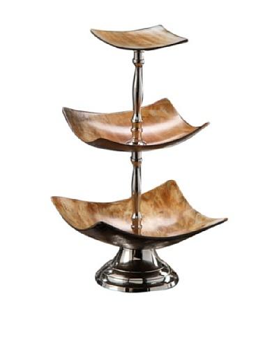 Montecito Three-Tier Square Horn Dish