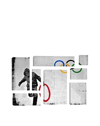 Banksy Olympics Stolen Ring Street Art 8-Piece Giclée On Canvas