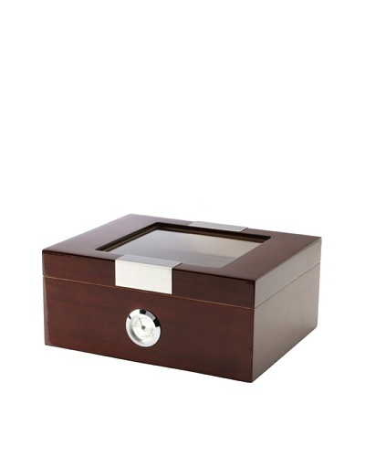 Lacquered Wood Humidor, Brown