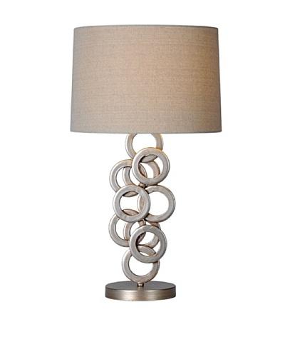 Brunella Lamp, Antique Silver