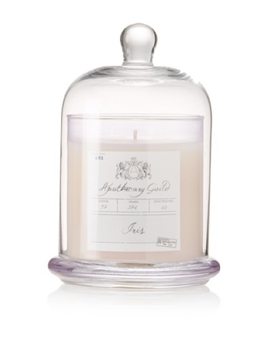 Apothecary Guild Candle Jar with Glass Dome, Iris, Medium