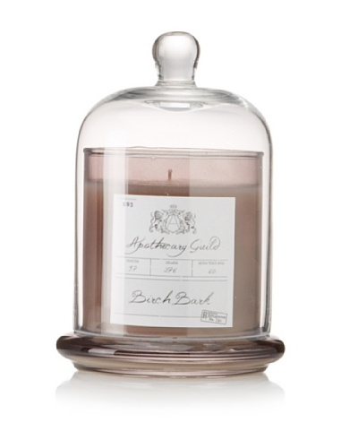 Apothecary Guild Candle Jar with Glass Dome, Birch Bark, Medium
