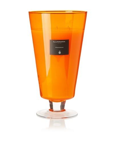 Illuminaria Wax Filled Vase Candle Jar, Orange Frangipani, 110 Oz.