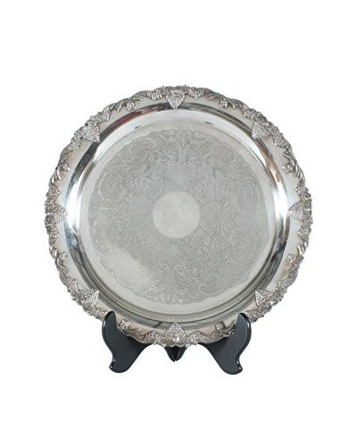 French Silverplate Platter, Silver