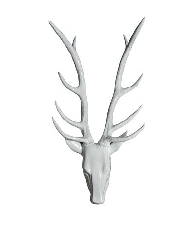 Resin Stag Head, White