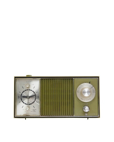 Vintage General Electric Radio, Olive