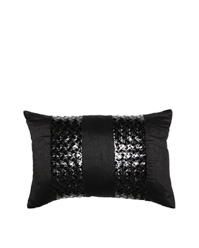 Rock Chic Bands Pillow, Black, 14 x 21
