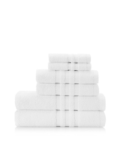 Terry Towels 6-Piece Towel Set, White