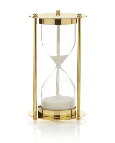 Brass and Glass Sand Timer, GoldAs You See