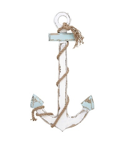 Rope-Wrapped Wooden Anchor