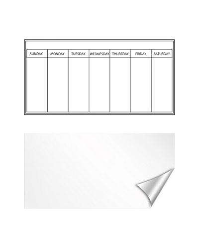 Weekly Whiteboard Dry-Erase Calendar Message Board Combo
