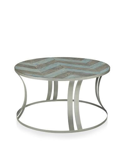 Charlie Coffee Table, Antique Elm/Pale Ocean