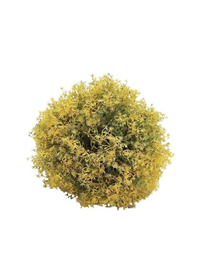 """Faux Yellow Flower 8"""" Filler Ball"""